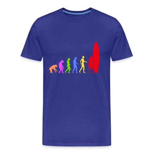 t-shirt surfing colors - Men's Premium T-Shirt