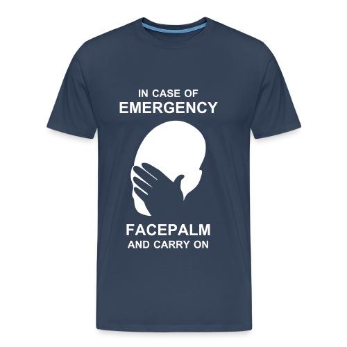 Emergency Facepalm - Men's Premium T-Shirt