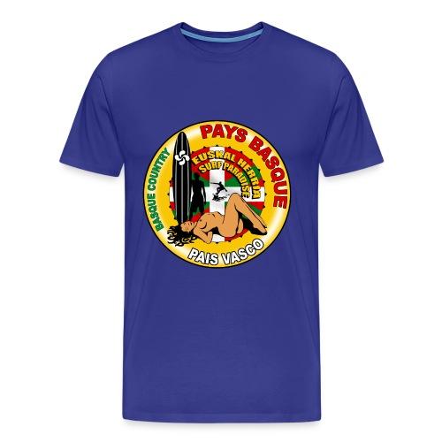 t-shirt basque surfing design - Men's Premium T-Shirt