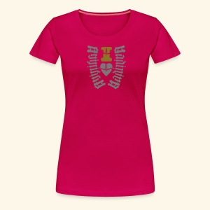 I LOVE MARTINIQUE MADININA - T-shirt Premium Femme