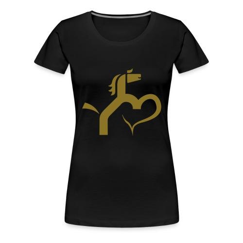 Pferd mit Herz - Frauen Premium T-Shirt