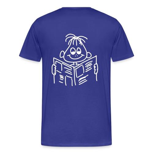 Männer T-Shirt Druck Rückseite - Männer Premium T-Shirt