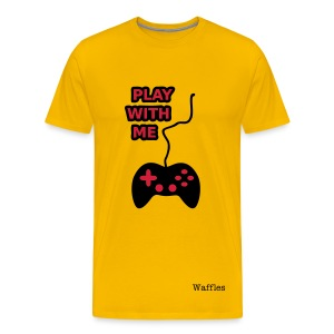 Play With Me | Yellow - Men's Premium T-Shirt