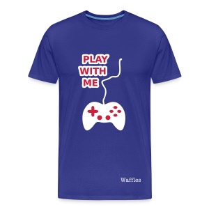 Play With Me | Blue - Men's Premium T-Shirt