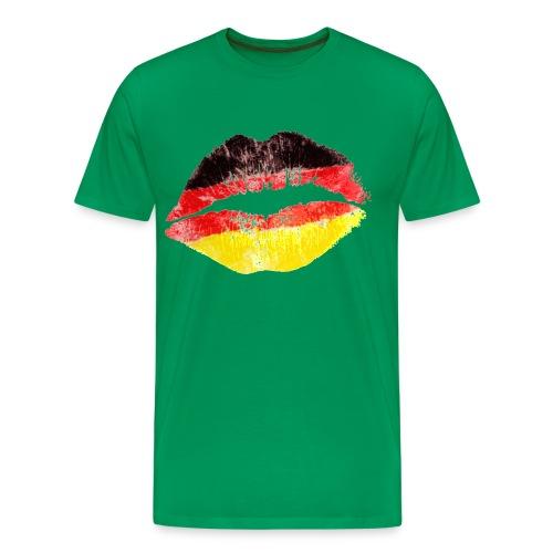 Germany Kiss Herren T-Shirt grün - Männer Premium T-Shirt