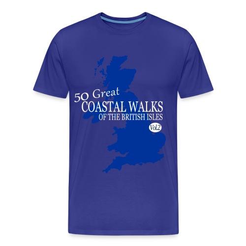 50 Great Coastal Walks Of The British Isles Vol. 2 - Men's Premium T-Shirt