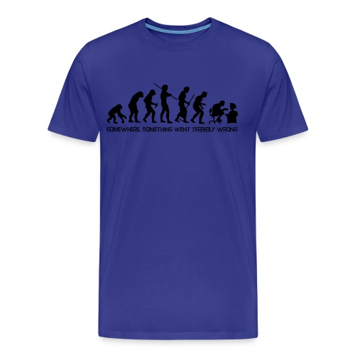 The Evolution of Man - Premium T-skjorte for menn