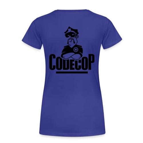 Code Cop, 'Reversed Cyan Claudia' - Women's Premium T-Shirt