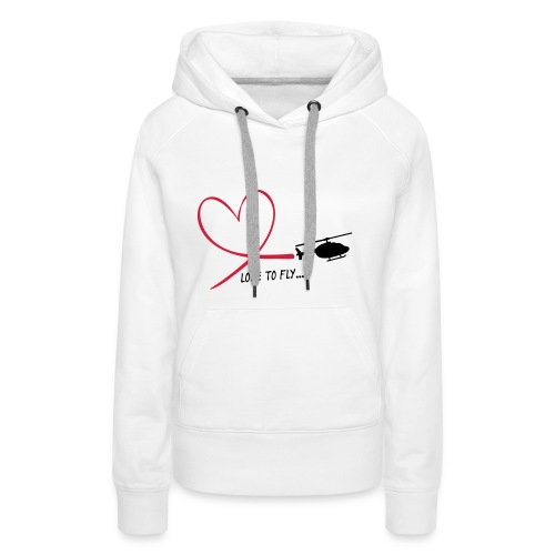 love to fly jet ranger - Frauen Premium Hoodie
