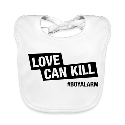 LOVE CAN KILL - Babylätzchen - Baby Bio-Lätzchen