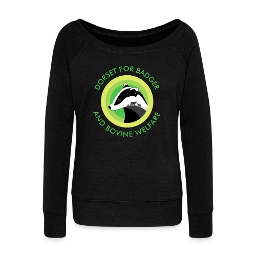 Dorset for Bagder and Bovine Welfare (Logo) - Women's Boat Neck Long Sleeve Top