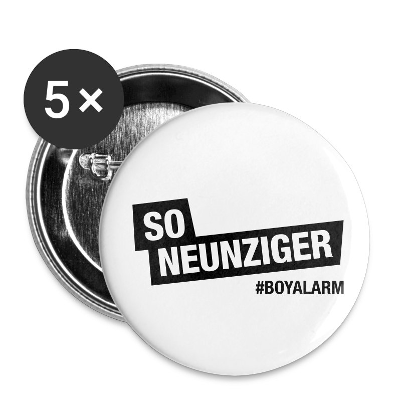SO NEUNZIGER - Button Set (5er Pack) - Buttons klein 25 mm
