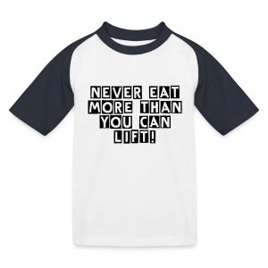 Never Eat More - Kinder Baseball T-Shirt