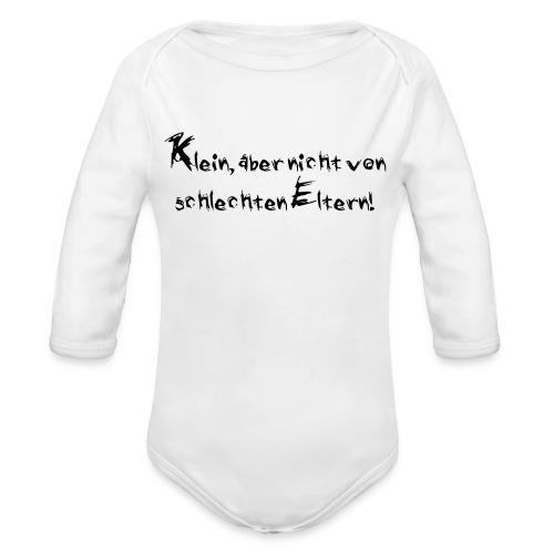 Klein, aber nicht von schlechten Eltern - Baby Bio-Langarm-Body
