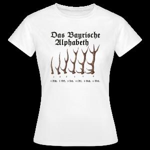 T-Shirt mit Bayrischem Alphabet - Frauen T-Shirt