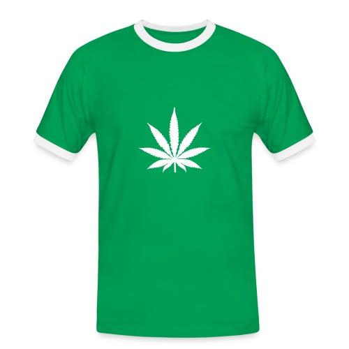 Hanf Blatt shirt - Männer Kontrast-T-Shirt