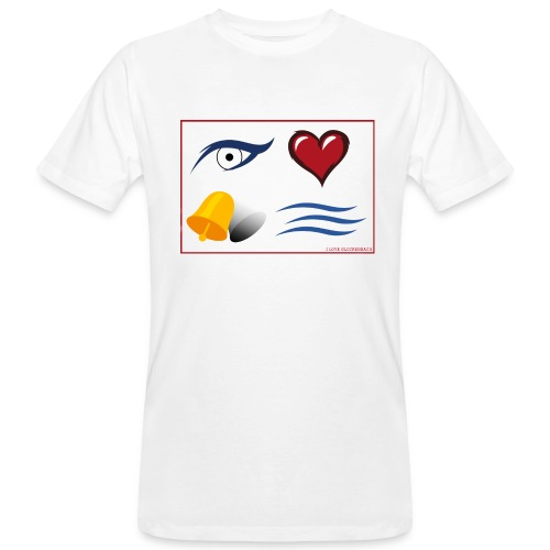 Herren T-Shirt weiß I love Glockenbach - Männer Bio-T-Shirt