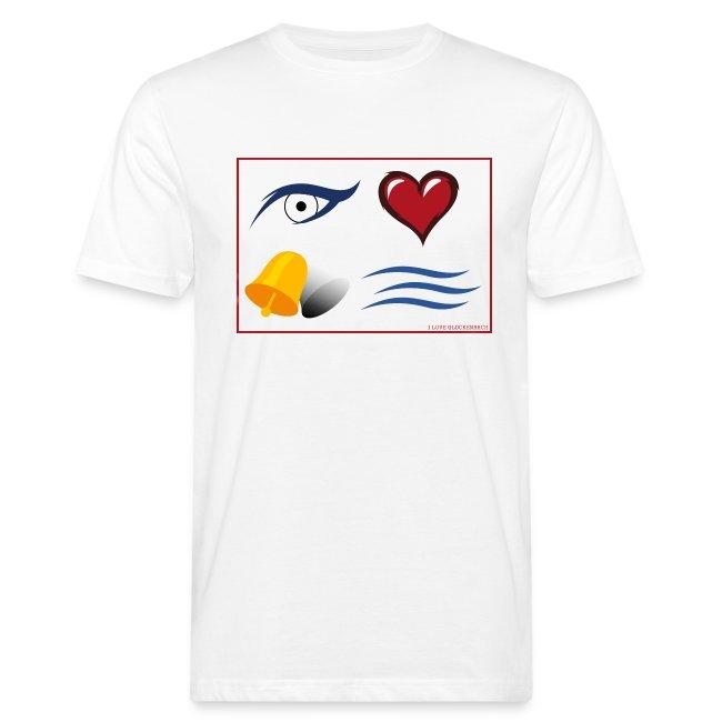 "Herren T-Shirt weiß ""I love Glockenbach"""