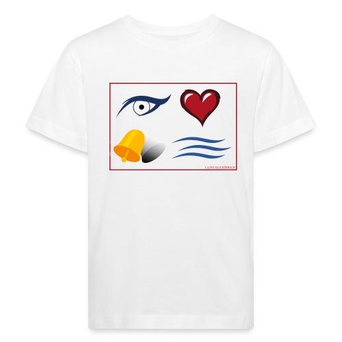 Kinder T-Shirt weiß I love Glockenbach - Kinder Bio-T-Shirt