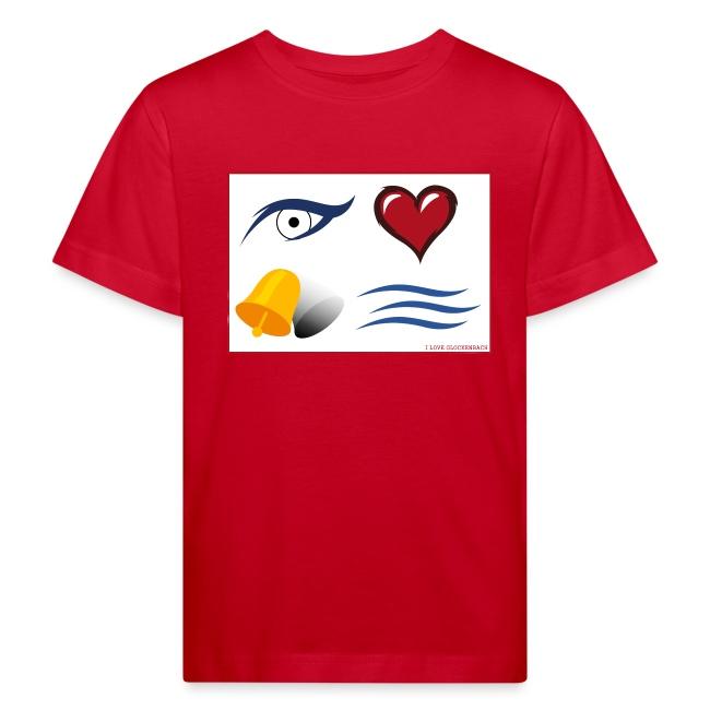 "Kinder T-Shirt rot ""I love Glockenbach"""