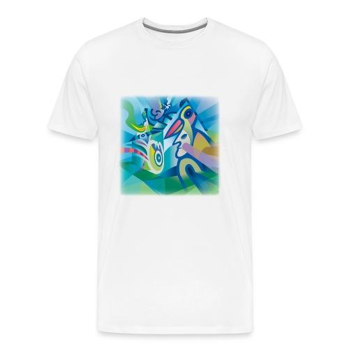 Cubistic House Männer T-Shirt - Männer Premium T-Shirt