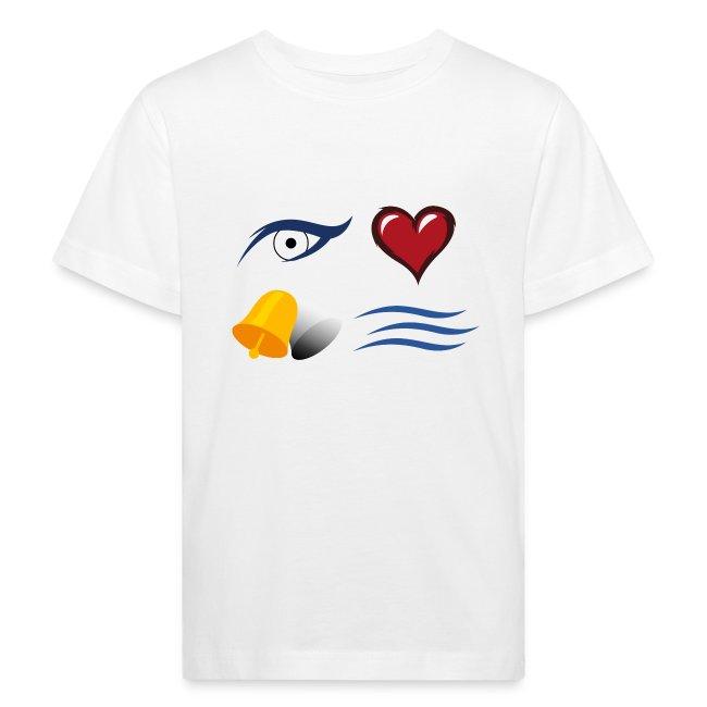 "Kinder T-Shirt weiß ""I love Glockenbach"""