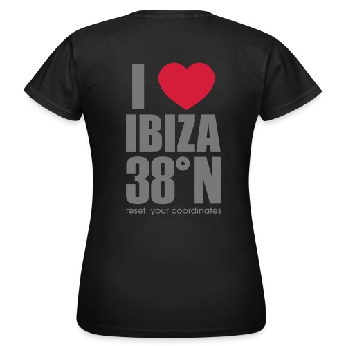 love ibiza back t - Women's T-Shirt