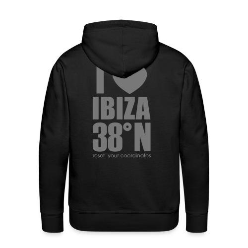 ibiza grey hoodie - Men's Premium Hoodie