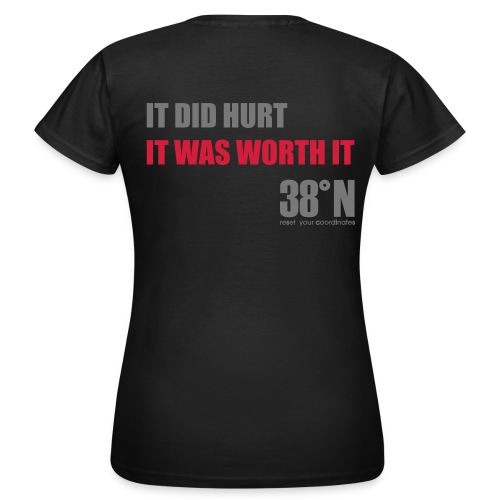 worth it back t - Women's T-Shirt