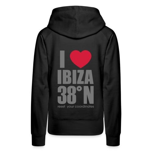 love ibiza red back hoodie - Women's Premium Hoodie