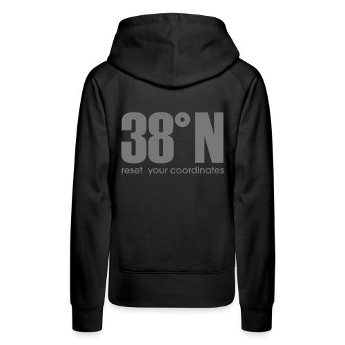 38 back hoodie - Women's Premium Hoodie