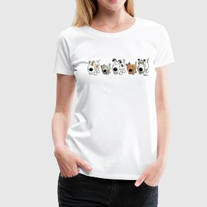 Funny Dogs - Hund - Hunde - Cartoon T-Shirts - Frauen Premium T-Shirt