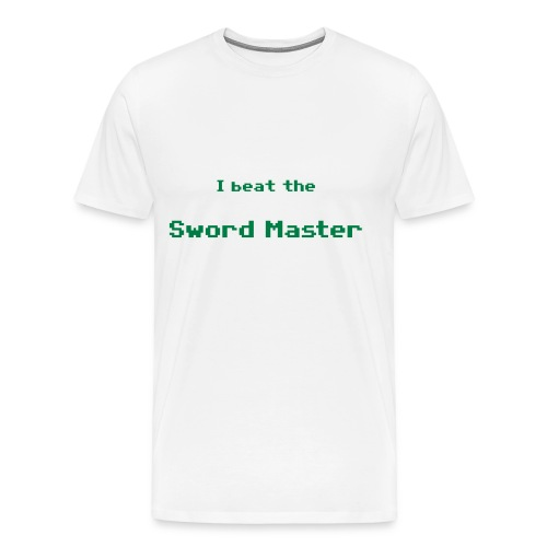 I beat the sword master - Camiseta premium hombre