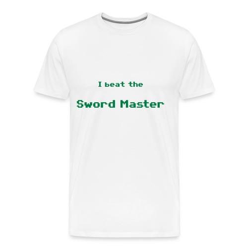 I beat the sword master - Camiseta premium hombre