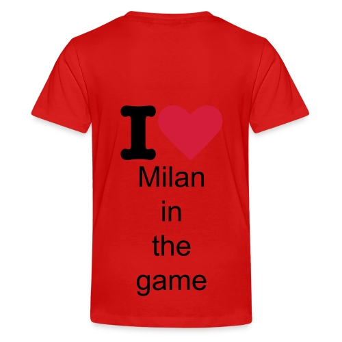 i love milan in the game shirt - Teenager Premium T-shirt