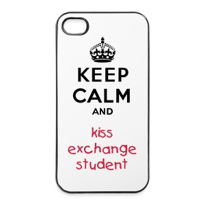 KEEP CALM AND KISS EXCHANGE STUDENT - iPhone 4/4s Hard Case