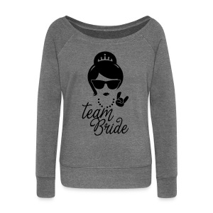 Team Bride Wedding Bridesmaids Stag Hen night do Hoodies & Sweatshirts - Women's Boat Neck Long Sleeve Top