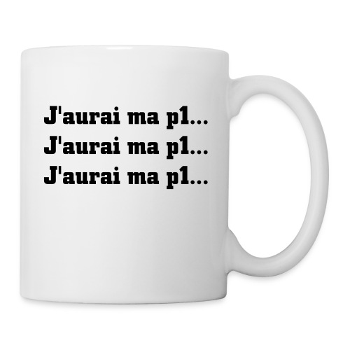 motivation : j'aurai ma p1 - Mug blanc