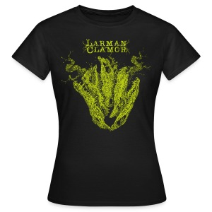 Larman Clamor Alligator Heart (dark design) (black) - Women's T-Shirt