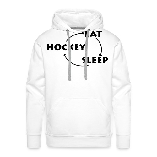 Eat -  Sleep - Hockey (Luvtröja) - Premiumluvtröja herr