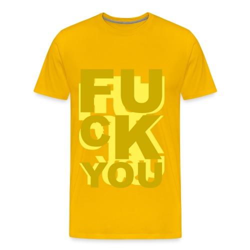 T shirt homme fuck you - T-shirt Premium Homme