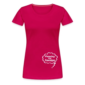 Planning my escape T-shirts - Vrouwen Premium T-shirt