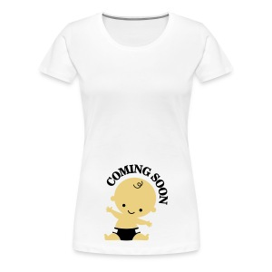 Baby - Coming Soon T-shirts - Vrouwen Premium T-shirt