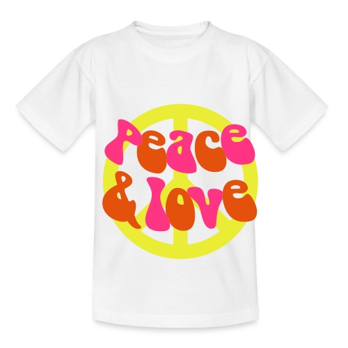peace & love -shirt - Teenage T-Shirt