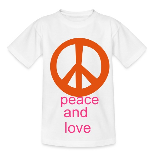 peace and love t-shirt - Teenage T-shirt