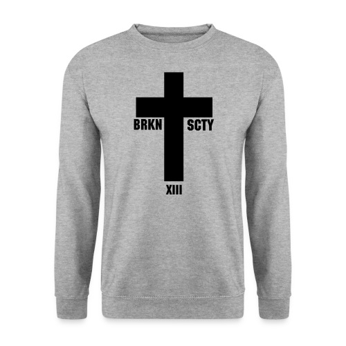 Broken Society Cross - Männer Pullover