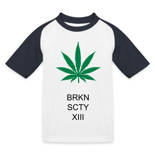Cannabis brokensociety shirt (BRKNSCTY) - Kinder Baseball T-Shirt