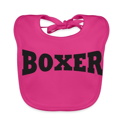 Boxer Schriftzug - Baby Bio-Lätzchen
