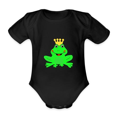 Body mit Froschkönig  - Baby Bio-Kurzarm-Body