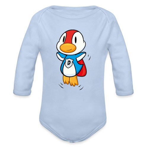 Duck - die Ente aus Federn - Superente! Langarm Body - Baby Bio-Langarm-Body